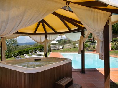 Photo for Huge Private Garden, AC in Bedrooms, Swimming Pool, Hot Tub and Wonderful View