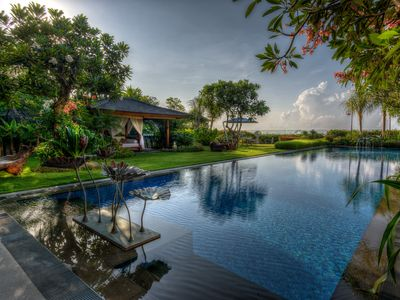 Photo for Villa Frangipani-a sprawling tropical lifestyle cliff top ocean view  pool Villa