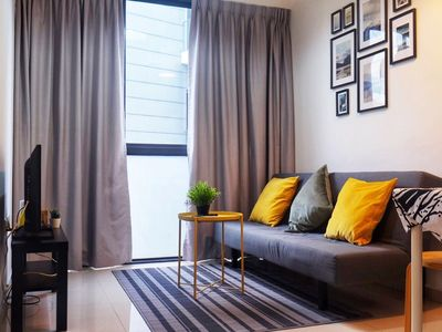 Photo for Newly and cozy 2BR condo 2mins to mrt