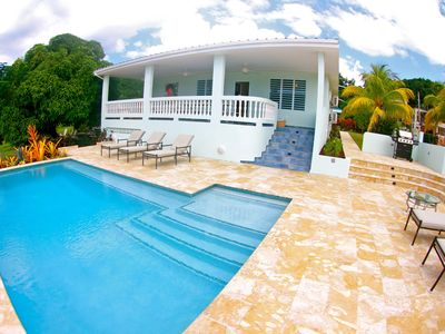 Photo for R Villa At Steps Beach with POOL and BOCCE Court