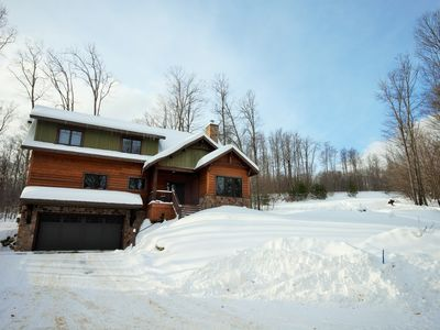 Photo for Spectacular Four Bedroom Lodge on the Slopes in the of Heart Boyne Highlands!