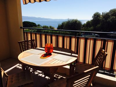 Photo for Ajaccio Route des Sanguinaires Sea view sleeps 6