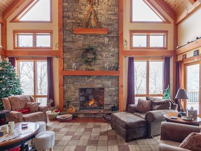 Photo for Luxury Loon Mtn Home Sleeps 16 with pool/gym access