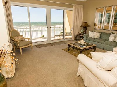 Photo for Charming 4th Floor Ocean Front Unit with Cozy Furnishings Throughout and Balcony