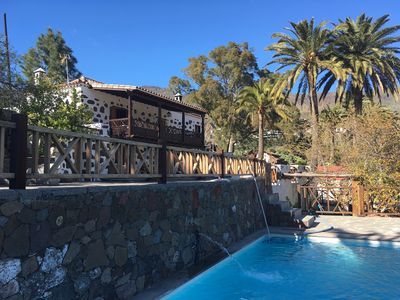 Photo for Stylish decorated typical Canarian cottage with private pool