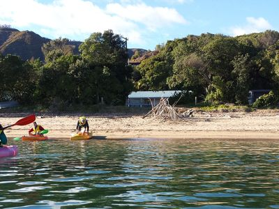 Photo for Ligar Bay - Beachaven Cottages - Two. Kayaks, Wifi, virtually beachfront propert