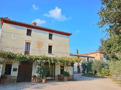 Photo for Attractive apartment in old farmhouse on the estate with pool.