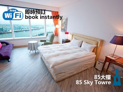 Photo for Apartment Kaohsiung Sky Tower 85 - backpacker H wifi free Liu He Night Market, Railway Station