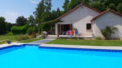 Photo for Modern Home/Gite with Salt Pool in the Limousin National Park.