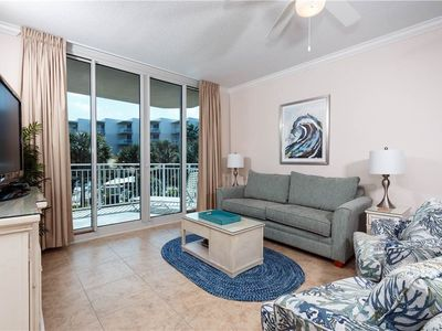 Photo for Gorgeous, beach-chic condo on Okaloosa Island! Free beach chairs! Waterfall + lazy river on-site!