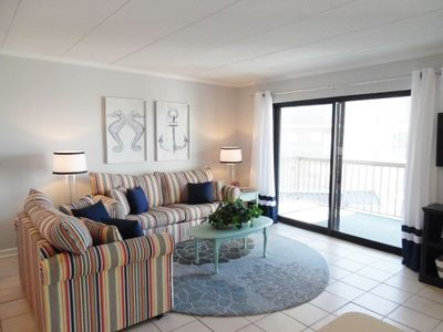 Photo for Spacious 2BR / 2BA condo with beautiful bay views from 24`wide covered balcony!