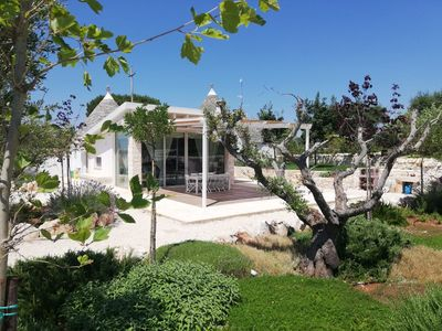 Photo for Spectacular trullo with pool, WI-FI, AC and floor heating in Alberobello