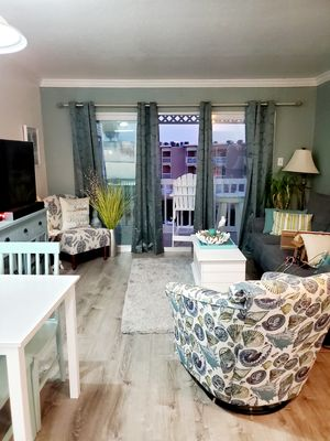 Photo for Ocean and Pool view updated condo that sleep 6 with lots of amenities.