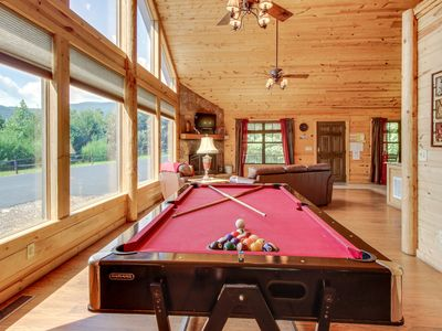 Photo for Private, dog-friendly getaway w/ private hot tub & gorgeous mountain views