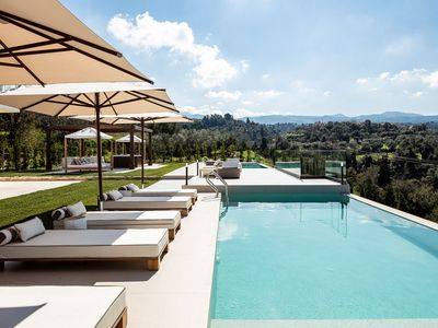 Photo for New Luxury Boutique Villa with Infinity Pools & Hot Tub, Near Historical Village