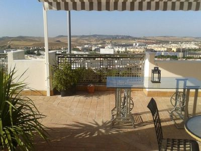 Photo for Duplex penthouse with fantastic terrace and garage, in the historical center of Jerez