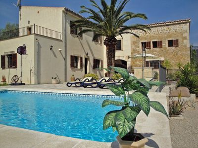 Photo for Beautiful Villa in Majorca with pool, wifi and fabulous view to the mountains