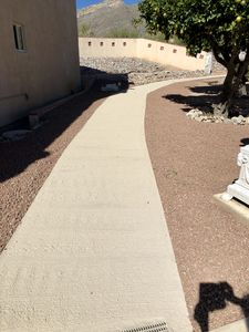 Private walkway to guest house