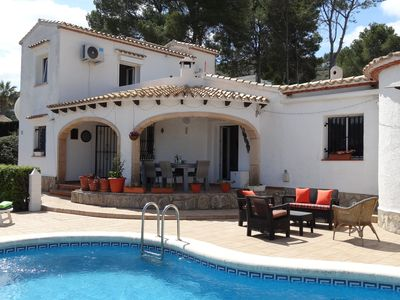 Photo for Villa on La sella with private pool, wifi, A/C all on one level.