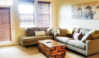 new furnishings make for a comfortable living space