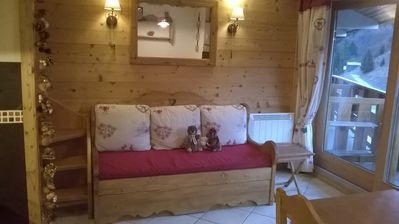 Photo for Duplex with Savoyard chalet decoration, ski-in/ski-out, 6 persons