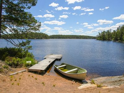 Photo for The nose 4 Green Cabin in Småland with boat