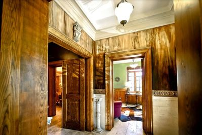 This entrance vestibule was hand painted by a well regarded Faux Painter.