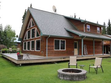 Kenai Riverfront Chalet and Private Fishing Dock.