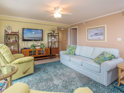 Photo for Bayfront unit. Walk to the Convention Center, dining, shops and the beach.
