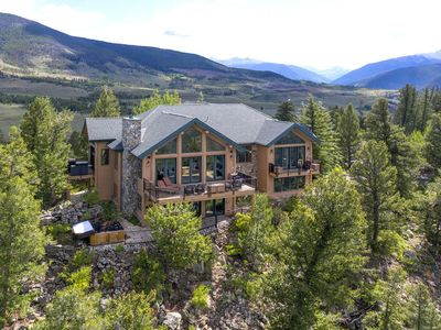 Photo for Luxury Mansion on Cliff Above Lake Dillon with Aerial Views