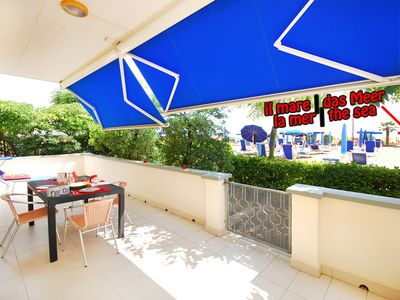 Photo for Jesolo Lido [Venice] - 80 sqm - Amazing three bedrooms seafront apartment - private parking & beach