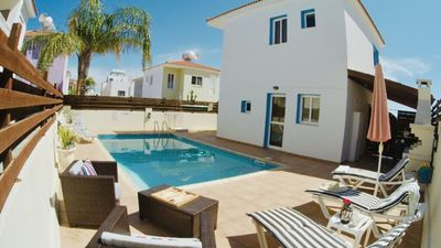 Photo for Beautiful Villa Emiliana steps to the beach Private Pool Free WiFI, Protaras