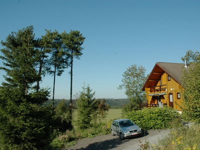 Photo for Comfortable chalet with relaxation area and a beautiful view of Durbuy