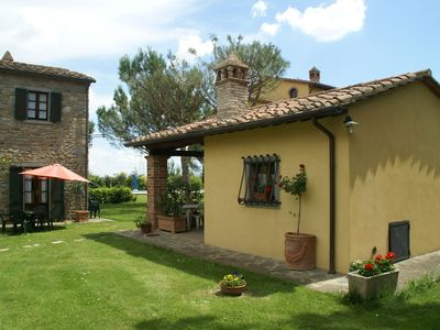 Photo for Beautiful holiday home with view over Cortona in beautiful surroundings