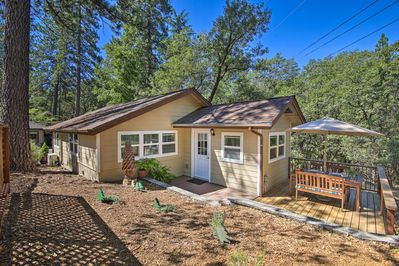 Enjoy a peaceful location surrounded by towering pines.
