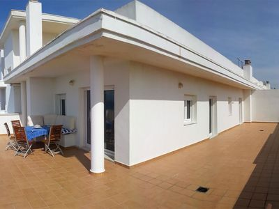 Photo for Penthouse-apartment with large terrace and stunning sea view, sleeps 6.