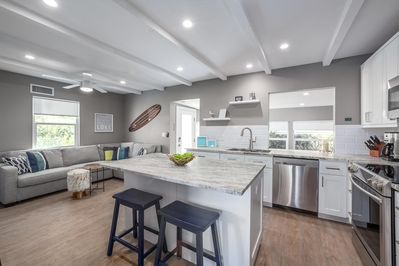 Amazing Kitchen and living area.