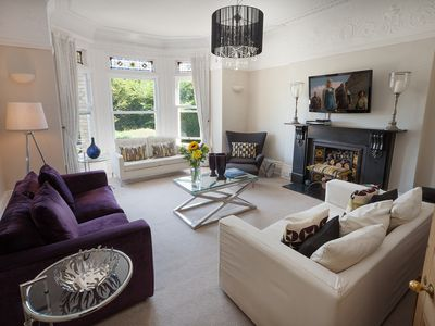 Photo for Westwood Hotel Chic 6 bedroom Victorian Villa near the coast path with sea views