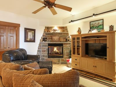 Photo for Taylor Peak 102 - 2 Br condo with fireplace, Marys Lake and mountain views!