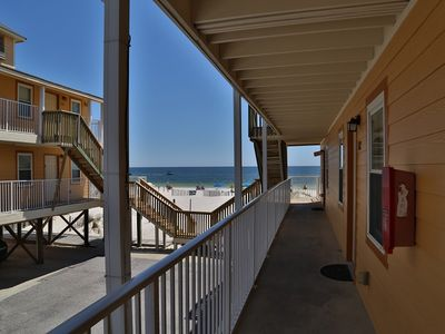 Breezeway right outside the front door that leads right down to the beach!