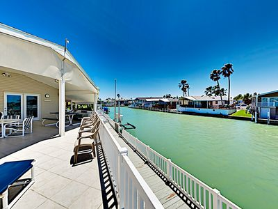 Photo for Waterfront Home w/ Views of Channel, Expansive Covered Deck & 2 Pools!