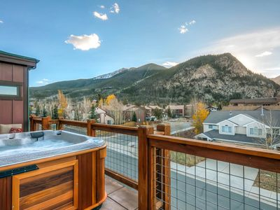 Photo for Sleek 3BR, 3BA w/Hot Tub & Unobstructed Mountain Views From 3 Private Patios