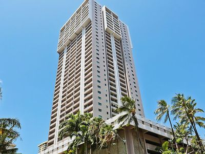 Photo for Remodeled Waikiki condo w/ shared pool/gym & free parking - walk everywhere!