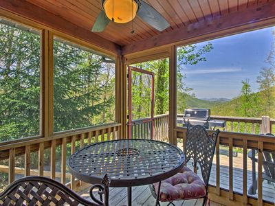 Photo for Bryson City Cabin w/ Private Spa & Mountain Views!