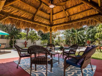 Photo for Tropical Private Pool Home with a Backyard Tiki Oasis that sleeps 9 guests