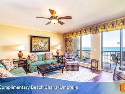 Photo for Complimentary Beach Umbrella & Chairs Included. Peaceful Luxury - Perfect Couples Getaway.