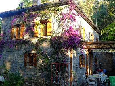 Photo for Beautiful stone house villa in Milina, quiet location, close to the seafront!