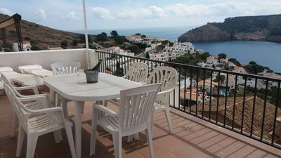 Photo for House with spectacular views of the sea-beach Cala Montgo Free Wifi. Ideal family.