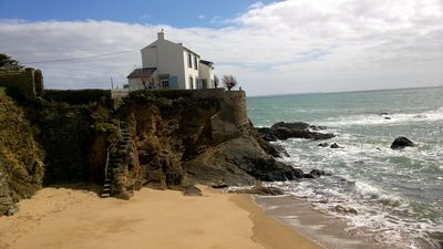 Photo for House on rocky promontory facing the sea. Private beach access