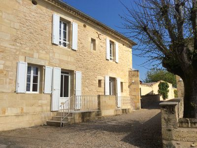 Photo for Near Saint-Emilion, in the heart of the vineyards, renovated house and all comfort